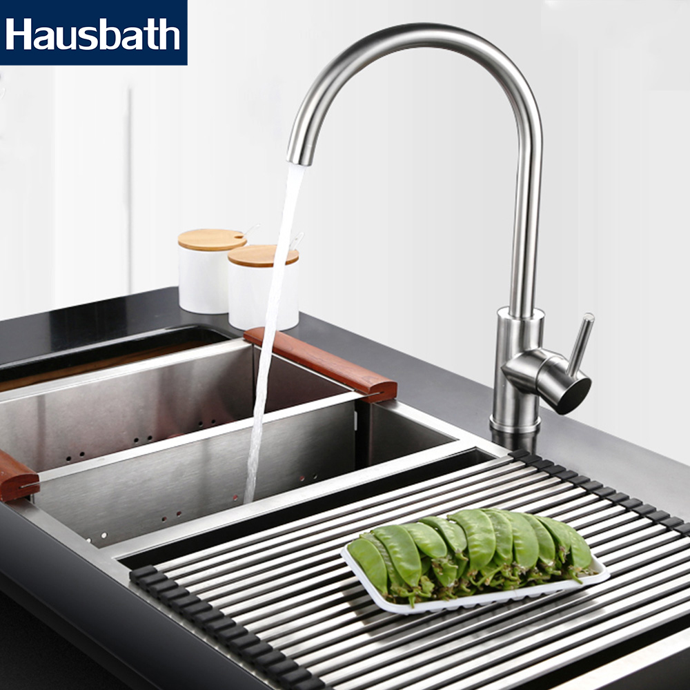 Kitchen Faucet Mixer Tap Sink Faucet 360 Degree Rotating Water Tap High Quality Stainless Steel Deck Mounted Chrome Finished