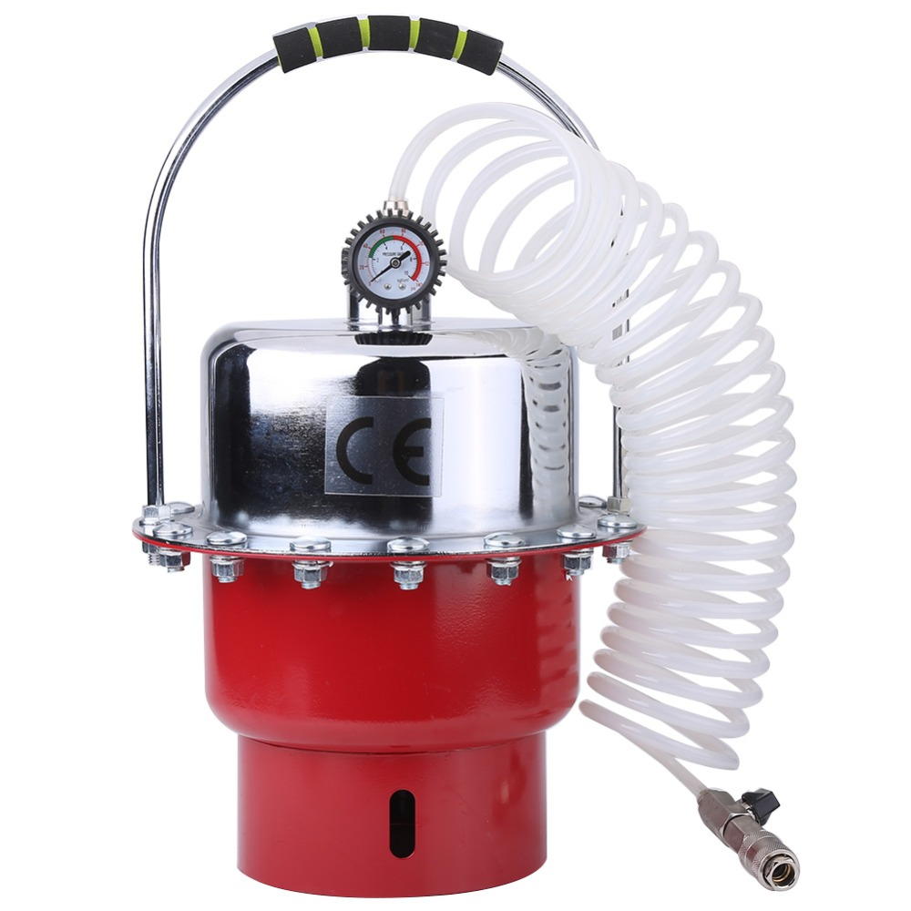 0 60PSI Pneumatic Air Portable Tank with Pressure Gauge Brake Bleeder Tool Kit Professional Braking Bleeding Set