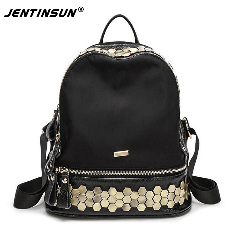 2017 Women Backpack Kpop Mochila Feminina New Trend Personalized Rivets Bags Shoulder Bag Korean Fashion Cloth With Leather youpop kpop blackpink album laser pu bag jewelry admission package new fashion backpack bags sjb618