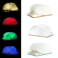 2016 New Design Flip Books Rechargeable LED Folding Book Night Light Chandelier Wall Bedside Decorative Lamp