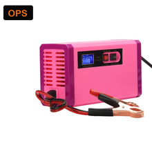 Motorcycle/Car 12V 8A LCD display Lead Acid battery charger Smart repair pulse charger for 12V 6AH to 120AH battery