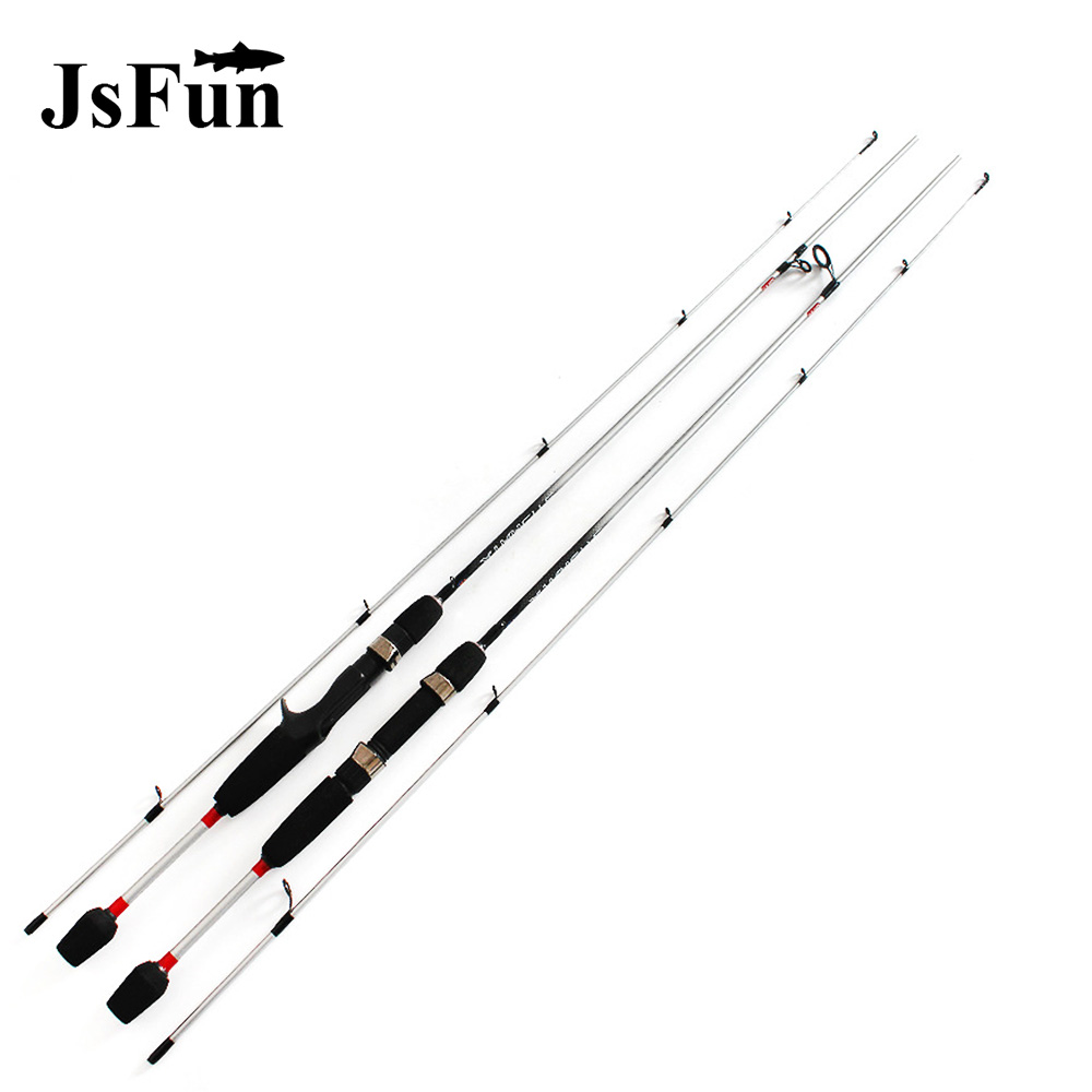 2 Tips Carbon UL Power Bass Lure Rods Spinning Fishing Rod 1/64-1/8oz Lure Weight 4/6 Moderate Actions Fishing Rod