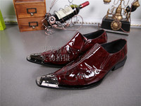British Style Patent Genuine Leather Crocodile Skin Shoes Dress Wedding Formal Shoes classic Italian Mens Shoes Brands Size47
