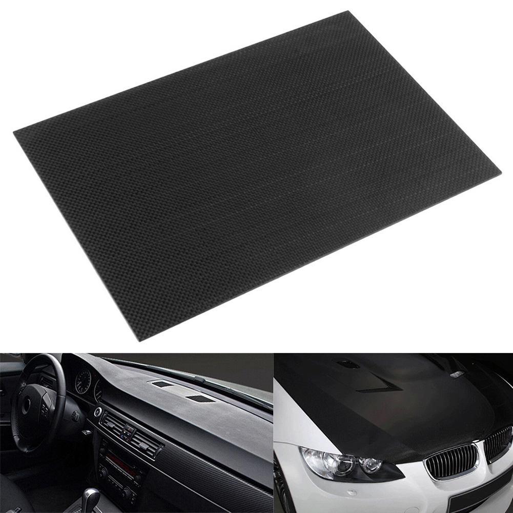 1pc Full Carbon Fiber Board High Strength RC Carbon Fiber Plate Panel Sheet 3K Plain Weave 7.87X7.87X0.06 Balck Glossy Matte