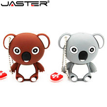 JASTER adorável animal koala 64 GB GB 32 16 GB usb flash drive pendrive pen drive Bonito U disk USB criativo dom memory stick keychain(China)