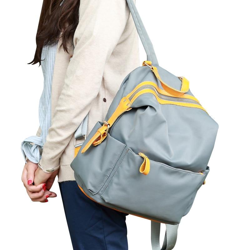 School Bags For Teenager Girls Students Backpack 2016 New Female women Backpacks Brand Designer Fashion Ladies Nylon Travel Bags