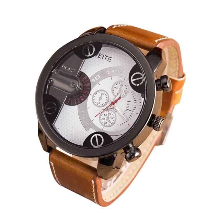 שעון גברים יוקרה עור אנלוגי קוורץ שעוני יד שעונים גברים ספורט שעון Dropshipping שעון saat relogio masculino