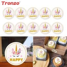 Tronzo Unicorn Candy Box uzlīmes dzimšanas dienas svinību rotājumi Bērni laimīgs vienradzis puse dāvanu kaste uzlīmes iepakojums kāzu dāvanas