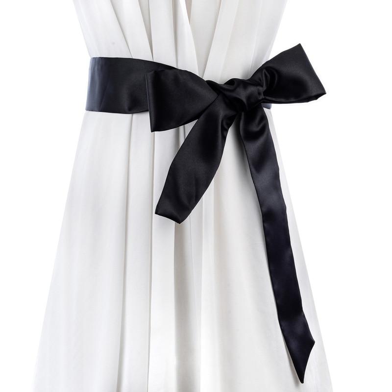 2017 New Fabric Wide Belt High Quality Textile Bowknot Long Belts For Women Match Dress Ribbon Satins Cummerbund Female Belt