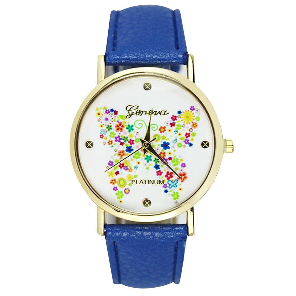 Free shipping 2017 Fashion Geneva Women Butterfly Watch