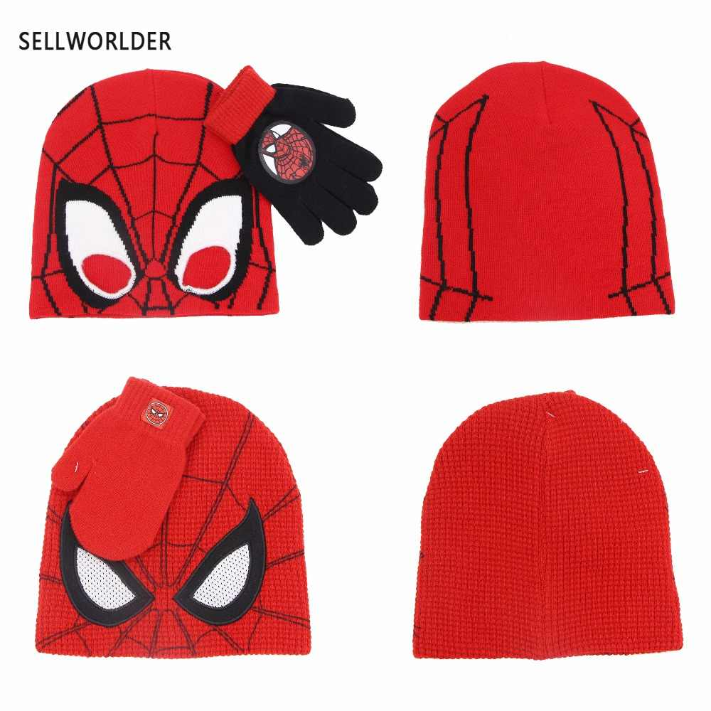 9a62edab Detail Feedback Questions about SELLWORLDER 2018 2 styles Kids Winter  Cartoon Character Spiderman 2pcs Hat & Glove Sets on Aliexpress.com |  alibaba group