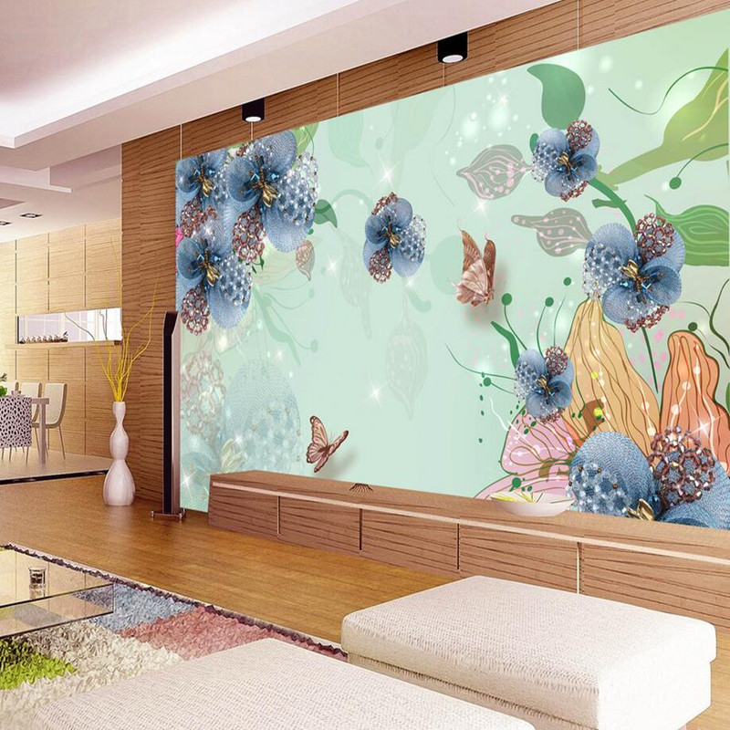 Custom any Size Photo Wall Mural 3D Wallpaper Living Room TV 3D Stereoscopic Beauty Wallpaper Jewelry Flower Wall Sticker Murals free shipping custom modern 3d mural bedroom living room tv backdrop wallpaper wallpaper ktv bars statue of liberty in new york