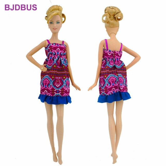 Fashion Handmade Dress Summer Clothing Bohemian Style Skirt Exotic Clothes  For Barbie Doll Accessories Pretend Play Toys Gift 9c3198d19e97
