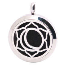 10pcs Moon Aromatherapy Essential Oil Surgical Stainless Steel Pendant Necklace Perfume Diffuser Locket with Felt Pdas