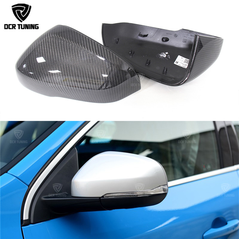 цена на For Volvo V40 V60 S60 2012 2013 2014 2015 2016 2017 Carbon Mirror Cover Replacement Style Carbon Fiber Rear View Mirror cover