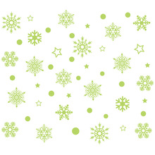 New Year Merry Christmas Decorations for Home Luminous Snowflake Background Decorative Sticker Removable