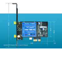 New for Intel 7260 7260AC 7260NGW 7260HMW 2 4&5G 867Mbps BT4 0 PCI-E 1X  PCIe WiFi Network Card For desktop