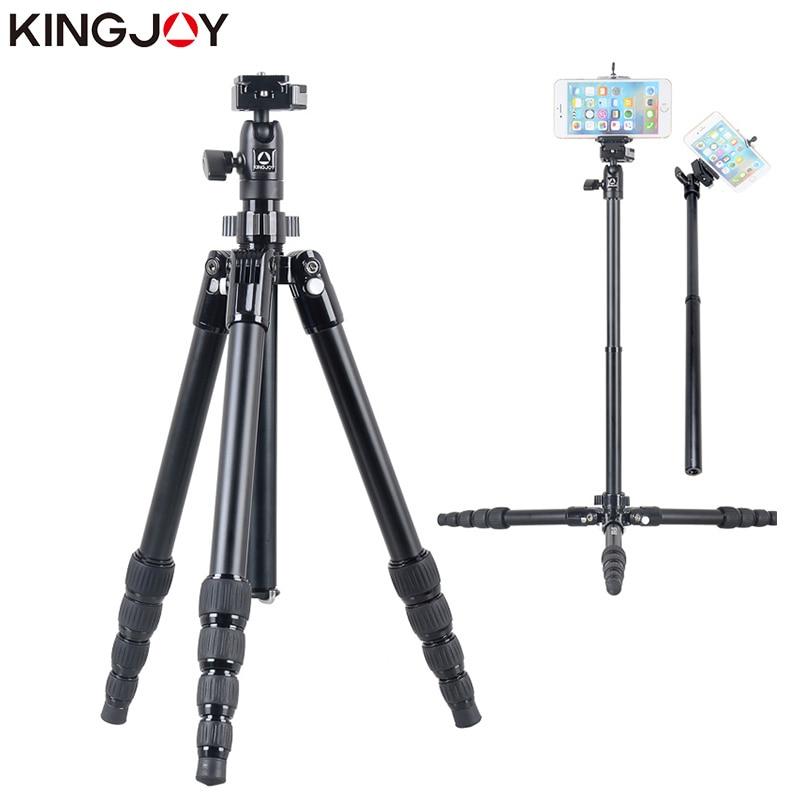 KINGJOY officiel SF046/056 Mini trépied pour appareil photo avec Selfie bâton support trépied pour téléphone Tripode Para Movil Gorillapod Mobile