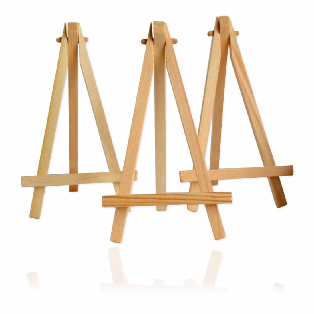 Suporte de exibição de pintura festa arte deco mini artista cavalete madeira casamento mesa cartão suporte artesanato pintura cavalete
