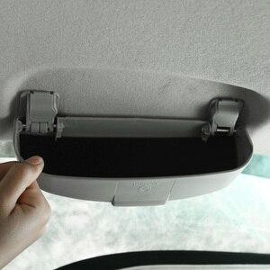 Gafas de sol de coche funda, soporte para Mitsubishi Outlander ASX Lancer Pajero, caja de almacenamiento de gafas de sol, accesorios interiores
