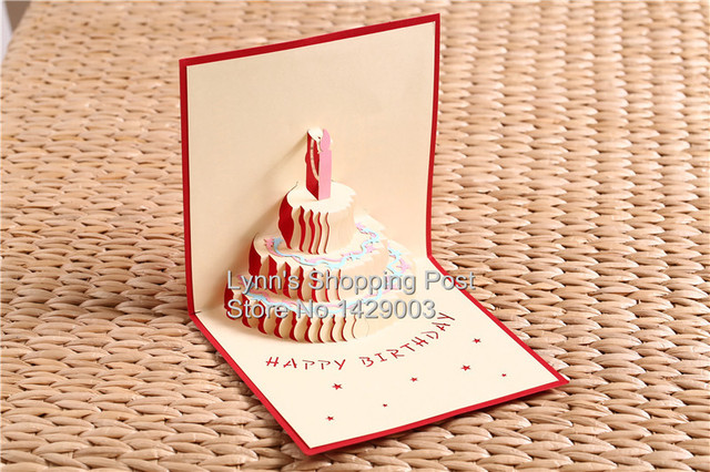 Buy greeting cards in bulk wblqual aliexpress buy greeting cards happy birthday cake postcard greeting card m4hsunfo