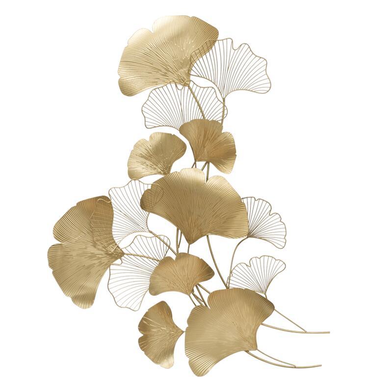 Moderne Luxe Smeedijzeren Muur Opknoping Ginkgo Blad Ambachten Decoratie Thuis Achtergrond Muursticker Veranda Metalen Muurschildering Accessoires - 2