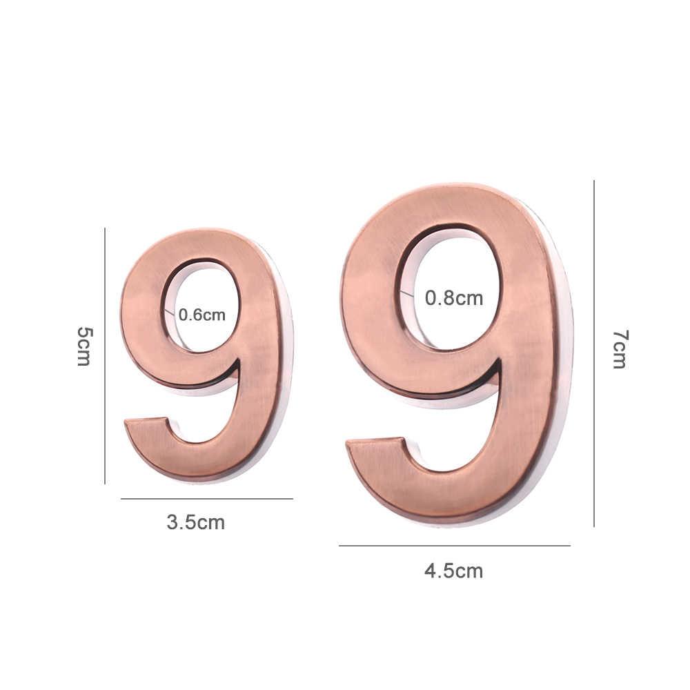1PC 0-Numeral 9 Plástico ABS Auto-adesivo Porta Da Sala de Casa Casa de Placa Sinal de Endereço Número de Dígitos etiqueta Sinal de Numeral