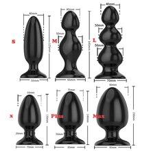 6 Sizes Smooth Soft Huge Anal Plug Anal Beads Butt Plug Dildo Anal Dilatador Adult Sex Toys for Men Prostate Massage Women Gay