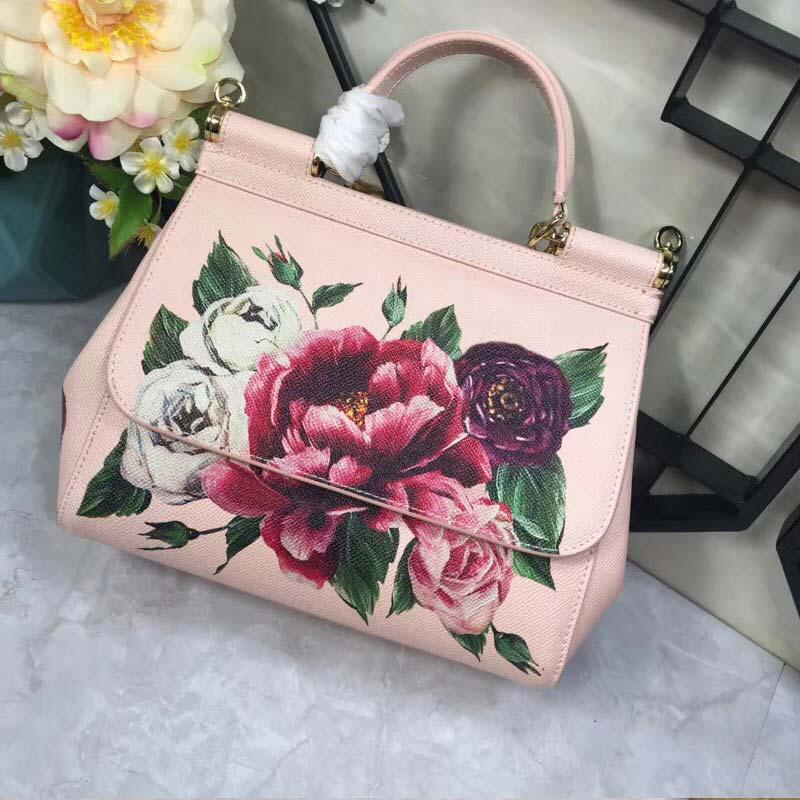 RosesRouge Rose Cuir Misanwiney2018 Imprimé Grand À FondationSac MainSacochePink De FemmesCouleur En white vmN8n0w