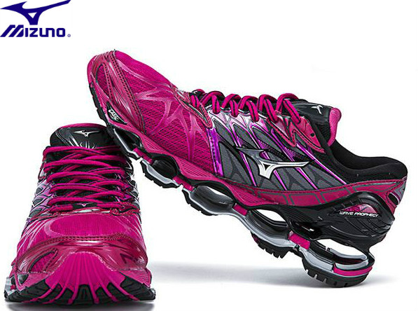 цена на Mizuno Wave PROPHECY 7 Professional men Shoes Running Shoes Sport Sneakers Weightlifting Shoes Rose red Stable Sports Size 36-41