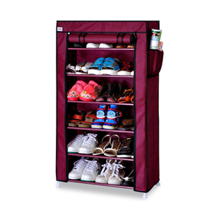 Image 3 - Thick Non woven Cloth Multi layers Shoe Rack Dustproof Waterproof Creative Shoes Cabinet  Shoes Storage Rack DIY Shoes Organizer
