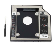 WZSM nowy 12 7mm 2nd HDD SSD dysk twardy Caddy uchwyt do adaptera HP ProBook 6360b 6460b 6465b 6470b 6475b tanie tanio CN (pochodzenie) Sata kable Zdjęcie wholesale HDD SSD Hard Drive Caddy