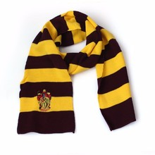 2016 Hot Selling Harry Potter Scarf High quality Gryffindor Hufflepuff Slytherin Knit Scarves Cosplay Costume Gift for Teenagers