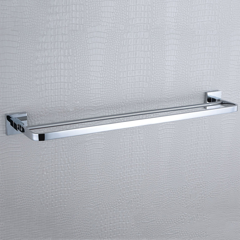 Double Bath Towel Shelves 304 Stainless Steel and Bathroom Copper Wall Mouted Hanger Holder Tiered Towel Racks/Bar, 23.7-Inches fully copper bathroom towel ring holder silver
