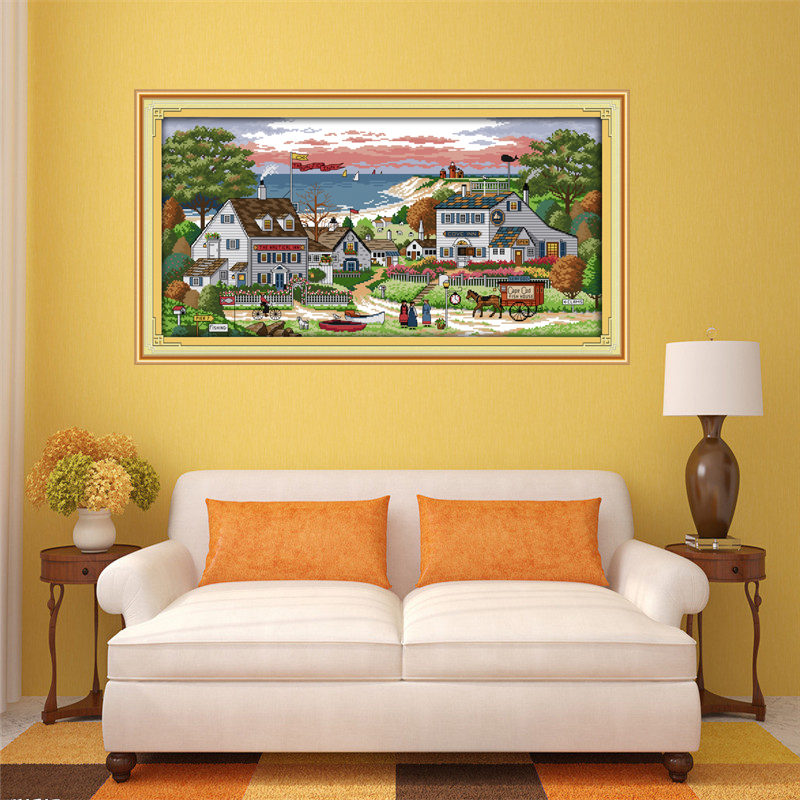 New Arrival Joy Sunday Cross Stitch Patterns Comfortable bay Cross Stitch Kits Embroidery Needlework Sets Printed DMC 11CT 14CT in Package from Home Garden