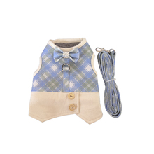Ambaby pet harness checked cat dog collar breathable Nylon mesh vest clothes product profession chest straps