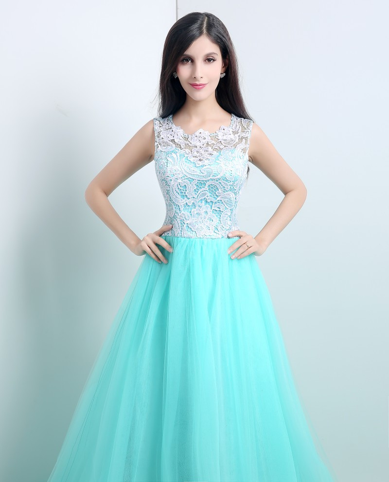 2016 Queen and Dream Prom Dresses for Tall Girls Lace Top Long Puffy ...