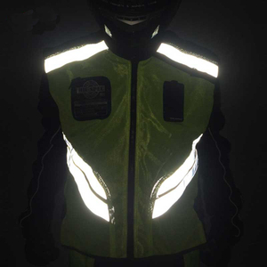 Image 3 - Rding Reflective Vest MOTO Waistcoat Non sleeve Clothing Motocross Off Road Racing Vest Motorcycle Touring Night Riding Jackets