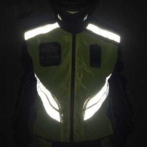 Image 3 - Rding Reflektierende Weste MOTO Weste Nicht hülse Kleidung Motocross Off Road Racing Weste Motorrad Touring Nacht Reiten Jacken