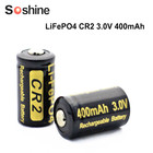 2 pieces/lot 400mAh CR2 battery 3.2v LiFePO4 Rechargeable Battery 15266 CR2 bateria w/ battery protective box
