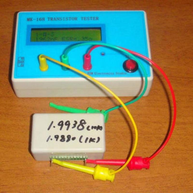 Transistor Tester Diode Triode Capacitance ESR resistance Meter MOS PNP NPN Tester Digital Electrical  Diagnostic-Tool  lcr esr meter mega328 digital combo transistor tester diode triode inductor capacitance resistor mos pnp npn test clip