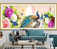 5D DIY Diamond Painting Peacock Needlework Diamond Mosaic Diamond Embroidery Swan Pattern Hobbies And Crafts Home