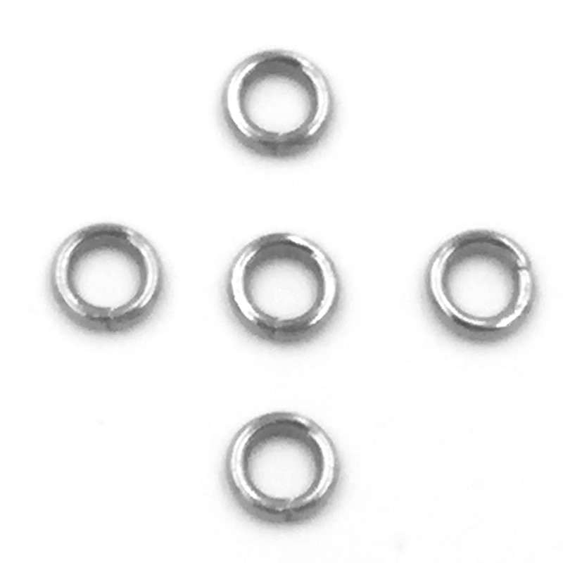 500Pcs Silver Tone Round Stainless Steel Split Open Jump Rings DIY Jewelry Making Findings 4x0.8mm