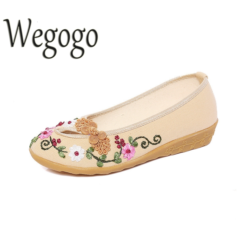 Wegogo Womens Cotton Shoes Fashion Flower Knitting Flats Platform Loafers Ladies Slip On Casual Flowers Women Shoes 2017 summer new fashion sexy lace ladies flats shoes womens pointed toe shallow flats shoes black slip on casual loafers t033109