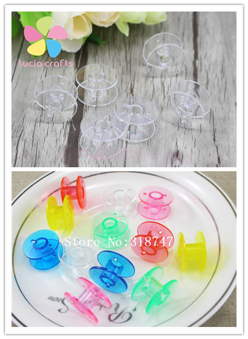 Multi colors options Plastic Bobbins Diy Sewing supplies 12pcs/lot 20030005(4HS12)