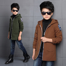 2017 New Arrival Autumn&Winter Children Clothing Baby Boys Casual Middle Long Wool Jacket Fleece Trench Outwear&Coat Kids go effectively with