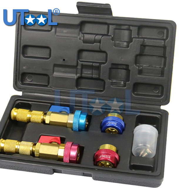 R134A R1234YF Quick Valve Core Remover Installer Tool High Low Pressure Tool Air Conditioning Syestem Tool