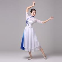 Classical dance costume female 2019 new adult Chinese style chiffon elegant modern guzheng performance clothing