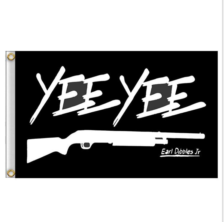 3X5FT YEE YEE Flag Earl Dibbles Jr Black Flag Banner Fans Collection Hunting Deer Flag Prop Home Wall House Decoration
