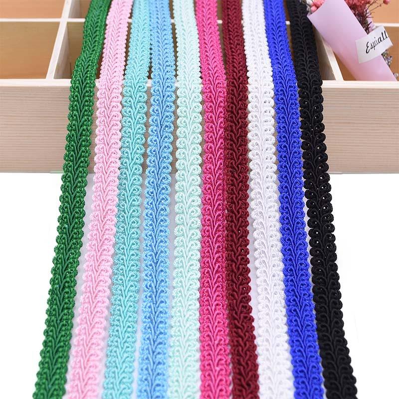 5 mètres 12mm guipure dentelle ruban Polyester Centipede tressé dentelle couture vêtements accessoires courbe dentelle bricolage artisanat mariage décor